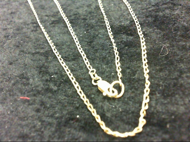 """24"""" Gold Curb Chain 14K Yellow Gold 4.2g"""