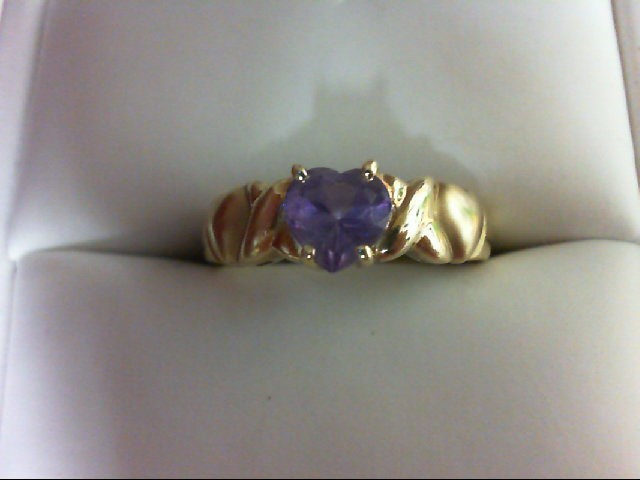 Lady's Gold Ring 10K Yellow Gold 2.5g Size:7