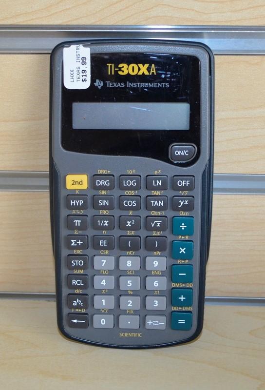TEXAS INSTRUMENTS TI-30XA S/K-0209F TEXA