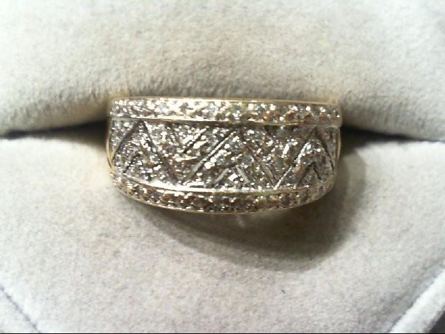 Lady's Diamond wedding band 60 Diamonds .300 Carat T.W. 14K 2 Tone Gold 6.1g