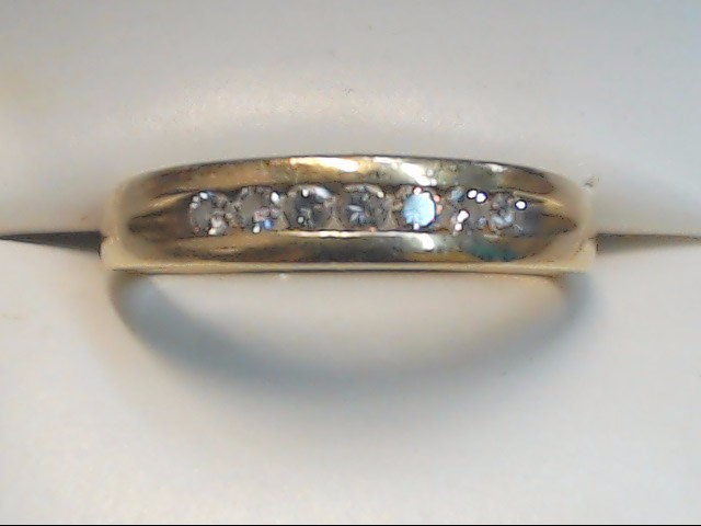 Gent's Gold-Diamond Wedding Band 7 Diamonds .35 Carat T.W. 14K Yellow Gold 3.9g