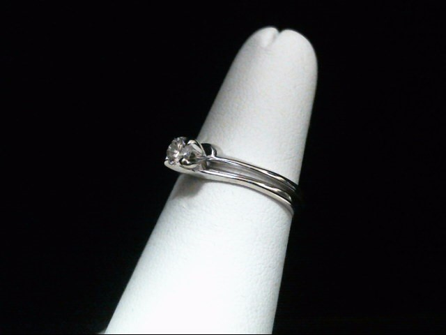 Lady's Diamond Wedding Set .22 CT. 14K White Gold 2.9g Size:5.5