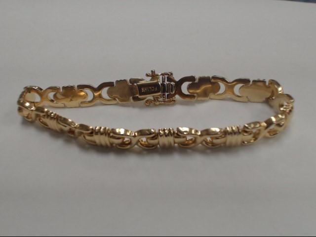 Gold Fashion Bracelet 14K Yellow Gold 10.16g