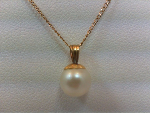 Pearl Gold-Stone Pendant 14K Yellow Gold 1.2g