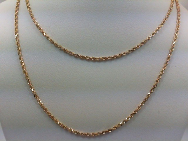 "24"" Gold Rope Chain 14K Yellow Gold 6.2g"