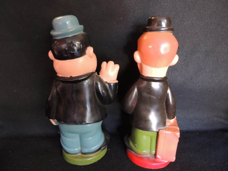 Stan Laurel & Oliver Hardy Banks Cartoon 70's Plastic Vinyl Harmon Pictures