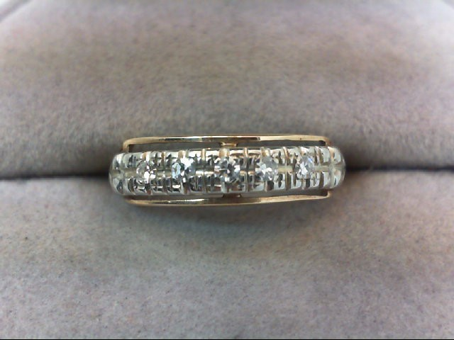 Lady's Diamond Wedding Band 5 Diamonds .10 Carat T.W. 14K Yellow Gold 1.8g
