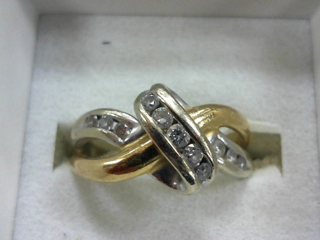 Lady's Diamond Wedding Band 11 Diamonds .33 Carat T.W. 14K Yellow Gold 3.9g