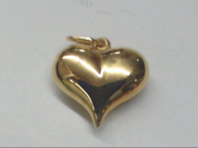 Gold Heart Charm 14K Yellow Gold 0.7g