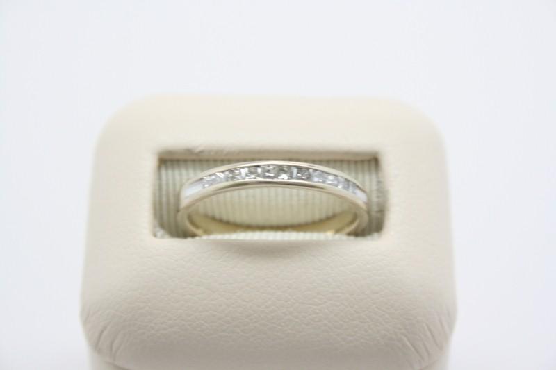 PRINCESS CUT DIAMOND WEDDING BAND 14K WHITE GOLD