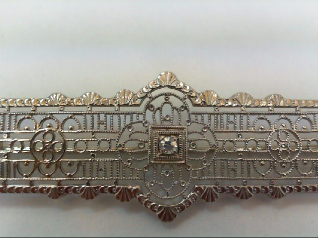 Gold-Diamond Brooch .03 CT. 8K White Gold 3g
