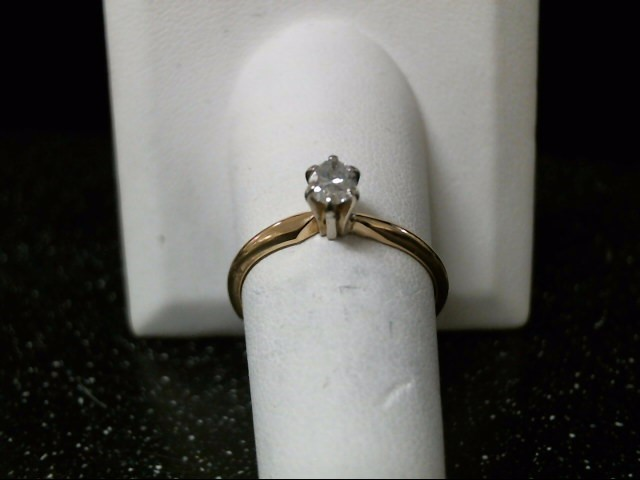 Lady's Diamond Solitaire Ring .36 CT. 14K Yellow Gold 2.1g Size:9