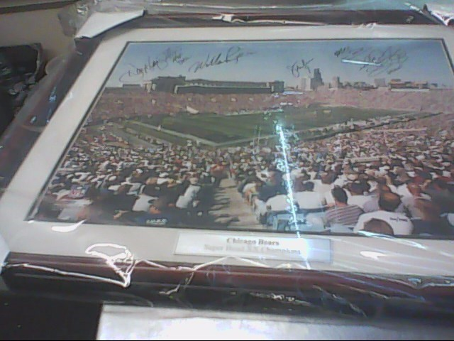 CHICAGO BEARS Autographed PICTURE 1985 Superbowl COA