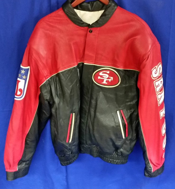 POUR LE SPORT 49ERS LEATHER JACKET