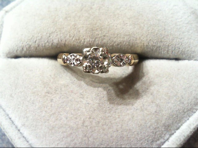 Lady's Diamond Engagement Ring .08 CT. 14K 2 Tone Gold 2.7g