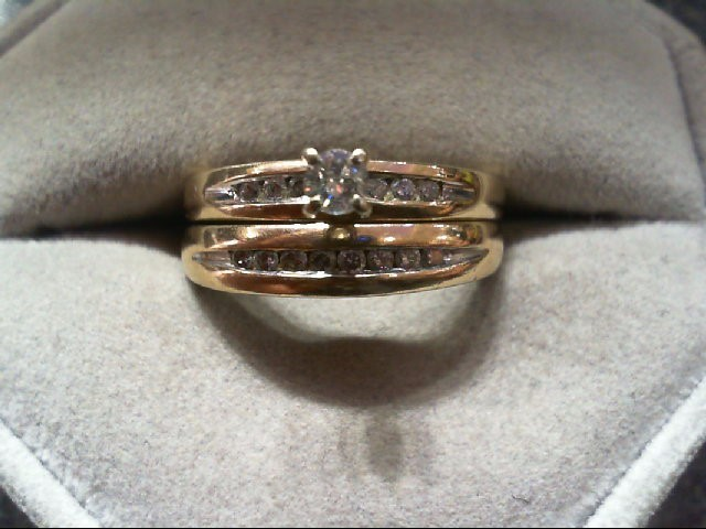 Lady's Diamond Wedding Set 15 Diamonds .43 Carat T.W. 10K Yellow Gold 6.1g