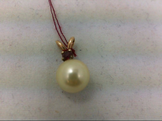 Pearl Gold-Stone Pendant 14K Yellow Gold 0.8g
