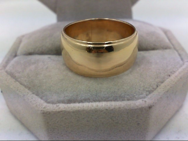 EXTRA WIDE 9.5MM Lady's Gold WED BAND  Ring 14K Yellow Gold 9.6g Size:7.25