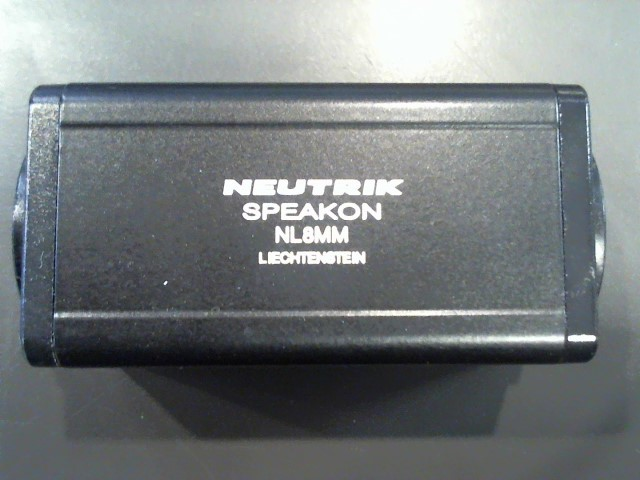 NEUTRIK 8-PIN MALE/MALE SPEAKON ADAPTER M\NL8MM