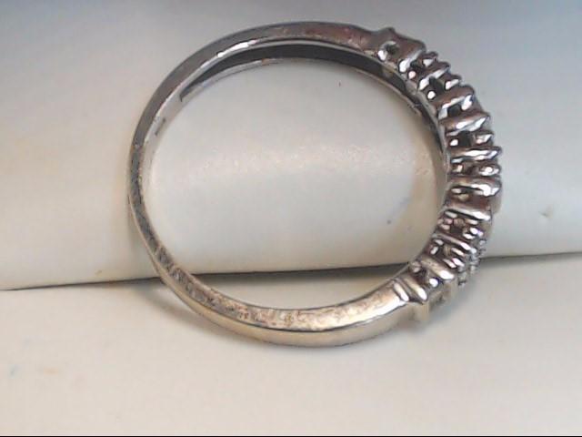 Lady's Gold-Diamond Anniversary Ring 24 Diamonds .120 Carat T.W. 10K White Gold