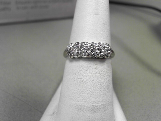 Lady's Diamond Fashion Ring 12 Diamonds 0.24 Carat T.W. 14K White Gold 2.6g