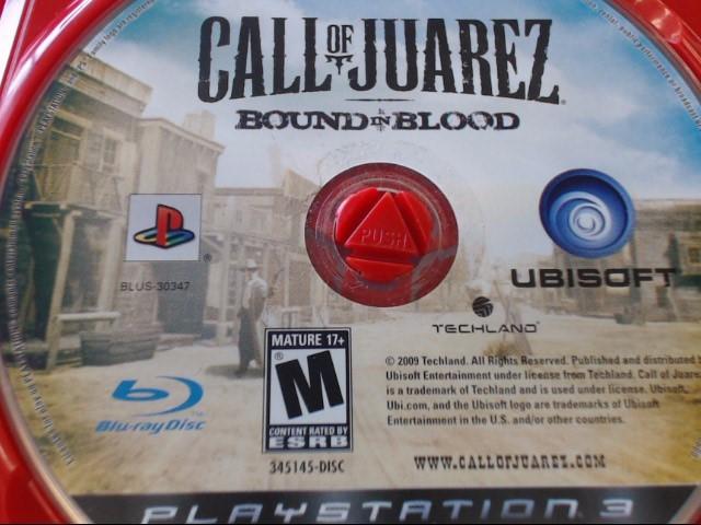 SONY PS3 CALL OF JUAREZ