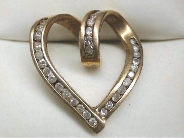 Gold-Multi-Diamond Pendant 32 Diamonds .64 Carat T.W. 10K Yellow Gold 3g
