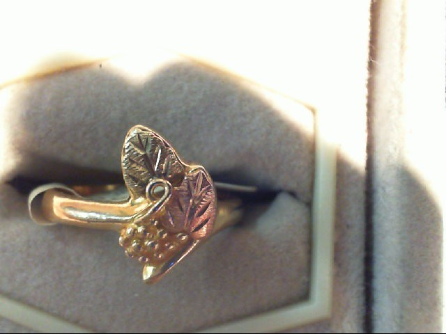 Lady's Gold Ring 10K 2 Tone Gold 3g Size:6.5