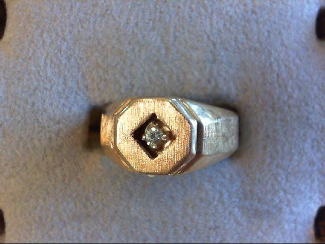 Gent's Diamond Fashion Ring .10 CT. 14K Yellow Gold 6.2g