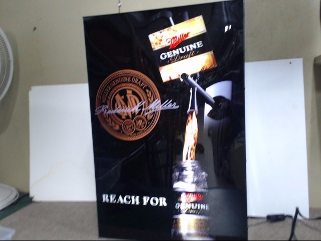 MILLER BREWING COMPANY Sign GENUINE DRAFT BEER SIGN
