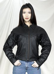 DEALER LEATHER LJ241-01-A S; LADIES NAKED COWHIDE JKT, ZIP OUT LINING