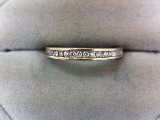 Lady's Diamond Engagement Ring 11 Diamonds .22 Carat T.W. 14K Yellow Gold 2.2g