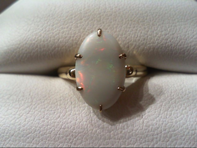 Opal Lady's Stone Ring 14K Yellow Gold 2.8g