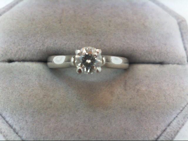 Lady's Platinum-Diamond Solitaire 3 Diamonds .53 Carat T.W. 950 Platinum 6.16g