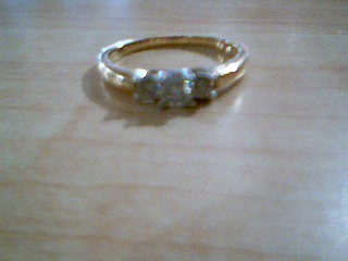 Lady's Diamond Cluster Ring 3 Diamonds .53 Carat T.W. 14K Yellow Gold 2.4g