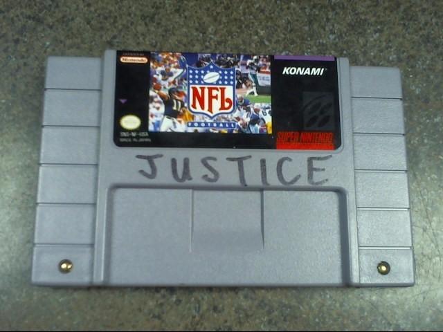 NINTENDO Nintendo SNES Game NFL FOOTBALL