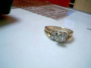 Lady's Diamond Wedding Band 7 Diamonds .57 Carat T.W. 14K 2 Tone Gold 4.4g