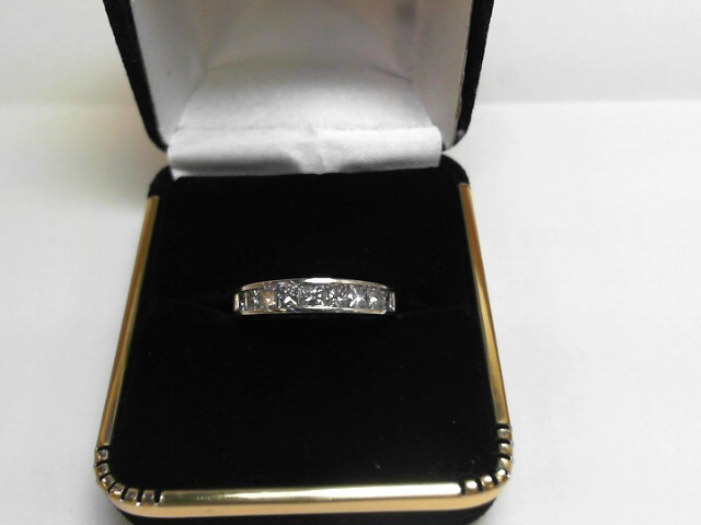 Lady's Gold-Diamond Anniversary Ring 9 Diamonds 1.08 Carat T.W. 14K White Gold