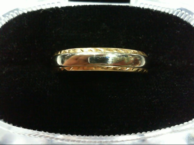 Gent's Gold Wedding Band 14K 2 Tone Gold 4.2g Size:9
