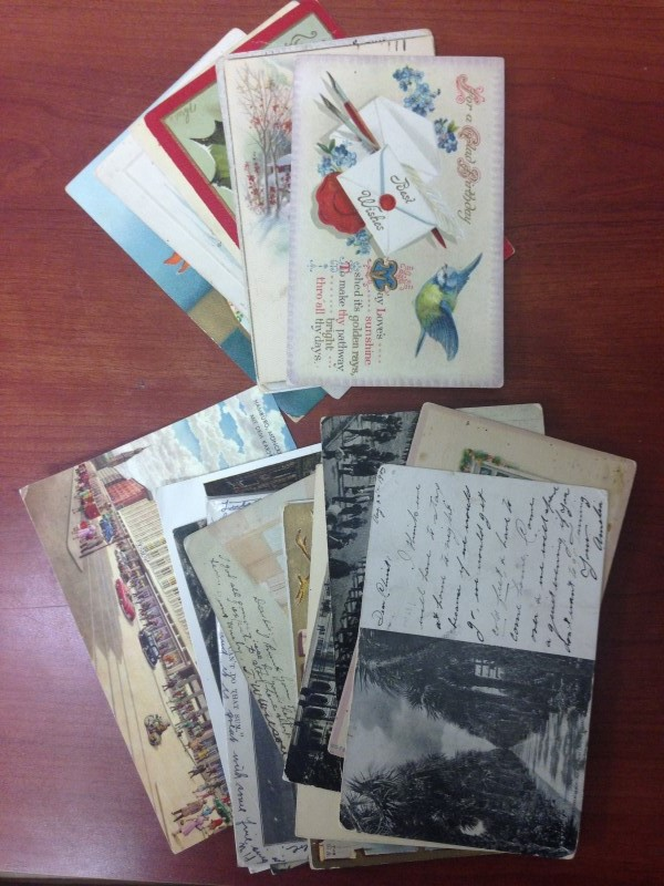 VINTAGE CHRISTMAS POSTCARDS, EARLY 1910'S MIXED LOT OF 8 PLUS 13 OTHER POST CARD