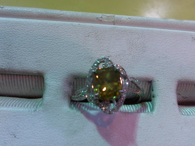 Lady's Diamond Fashion Ring 37 Diamonds 1.54 Carat T.W. 14K White Gold 3.5g