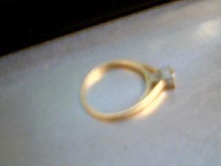 Lady's Diamond Engagement Ring .24 CT. 14K Yellow Gold 2.02g