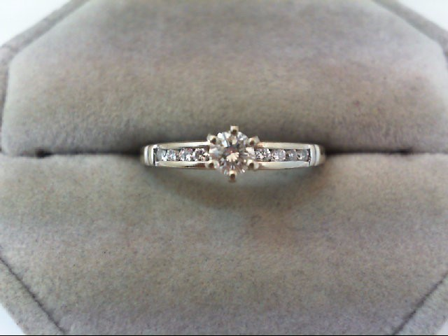Lady's Diamond Engagement Ring 11 Diamonds .49 Carat T.W. 14K Yellow Gold 2.1g