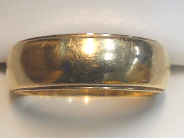 Gent's Gold Wedding Band 14K Yellow Gold 6.5g Size:8.5