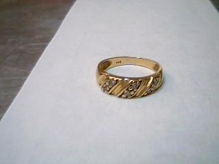 Lady's Diamond Wedding Band 6 Diamonds .18 Carat T.W. 14K Yellow Gold 1.8g