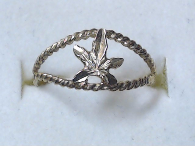 LEAF RING JEWELRY, 10KT, 1.00 GR