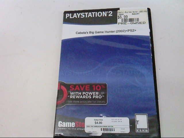 SONY Sony PlayStation 2 CABELAS BIG GAME HUNTER 2005