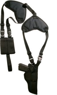 M&M MERCHANDISERS PROTECH WSHD-H1LZ, DELUXE SHOULDER HOLSTERS
