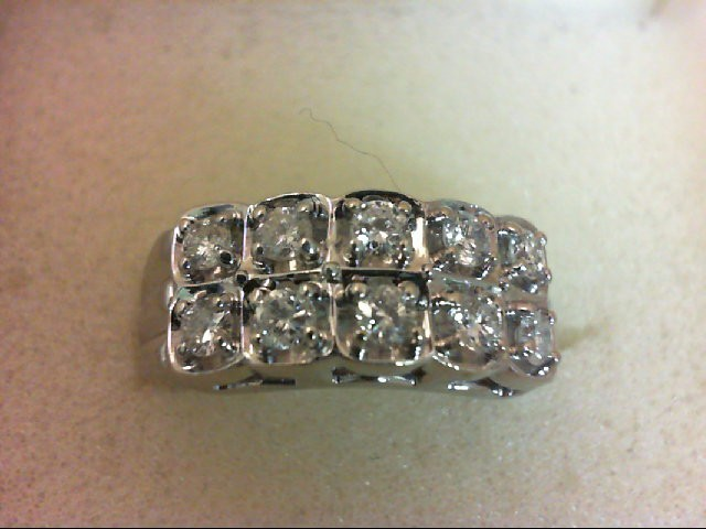 Lady's Diamond Wedding Band 10 Diamonds .50 Carat T.W. 14K White Gold 5g