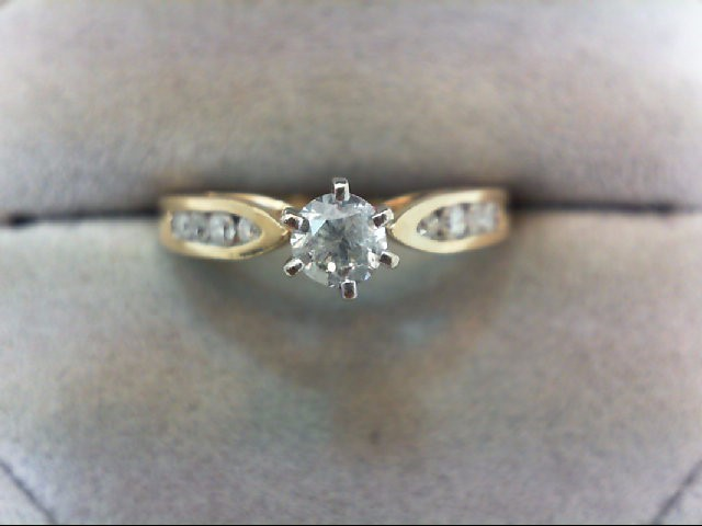 Lady's Diamond Engagement Ring 9 Diamonds .45 Carat T.W. 14K Yellow Gold 3g